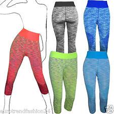 Damen sport Freizeit leggings Fitnes Hose Training Capri Leggins Sportkleidung