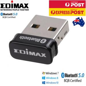Bluetooth V5.0 Wireless USB Nano Dongle Adapter Win10 Edimax BT-8500 BT5.0