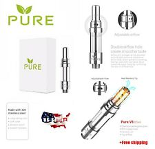 NEW MODEL PURE 1 ML Vape-Cartridge 510 Thread Tanks Adjustable Airflow V8