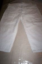 NWT! SEVEN 7 FOR ALL MANKIND WHITE EYELET CAPRI Cropped  Jean Skinny Shorts 24