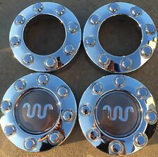 2005-2016 FORD F-250 F250 KING RANCH SUPER DUTY CHROME CENTER CAPS OEM SET OF 4