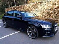 "Audi A4 TDI AVANT B8 Black Edition & Sline Styled, Black Metallic, 19"" Alloys"