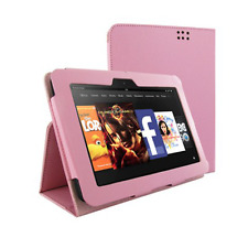 KOLAY PU Folding Case with Screen Protector for Kindle Fire HD (2013)