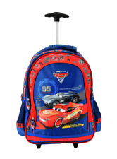 Disney The CARS Lightning McQueen Large School Backpack Trolley Wheeled Bag