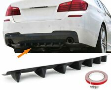 For BMW F10 F11 Shark M Rear Sport Bumper Diffuser ABS Addon skirt with ribs