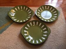 Cathrineholm Norway Set 3 Mid-Century Modern Lotus Abstract Enamel Dishes