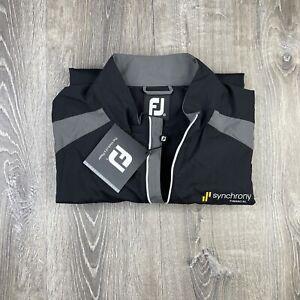 FootJoy SS Short Sleeve Sport Windshirt Charcoal Grey Black sz XL