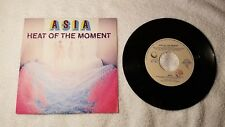 "ASIA Heat of the Moment / Ride Easy (Non-LP B-Side) 7"" Vinyl Single 45 ITALY PS"