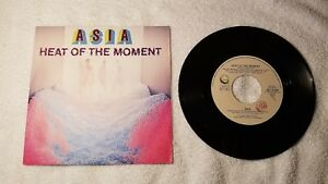 """ASIA Heat of the Moment / Ride Easy (Non-LP B-Side) 7"""" Vinyl Single 45 ITALY PS"""