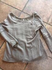 FREE PEOPLE Brown Long Sleeve Sweater Shirt Top Women Size S