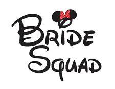 DISNEY*****WEDDING BRIDE SQUAD*************** T-SHIRT IRON ON TRANSFER