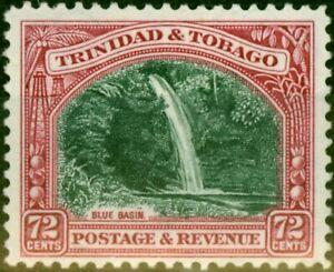 Trinidad & Tobago 1935 72c Myrtle-Green & Carmine SG238 Fine Mtd Mint