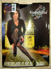 Gabriella 05 Paris Line Black Patterned Diamond Pantyhose Size Small NEW