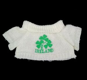 "Ireland Clover Sweater for Doll or Stuffed Bear Animal Size 6"" Wide x 4"" Long"