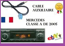 Cable aux mp3 mini iso autoradio audio 5 jack mercedes classe A de 2005..