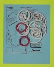 1983 Gottlieb Royal Flush Deluxe pinball rubber ring kit