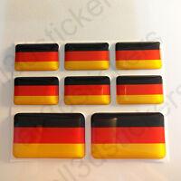 Pegatinas Alemania Pegatina Bandera Alemana Vinilo Adhesivo 3D Relieve Resina
