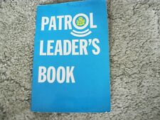 More details for the patrol leader's book girl guides 1977