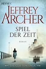 Spiel der Zeit Jeffrey Archer (2015)Roman Spiegel Bestseller,neu!Clifton-Saga!