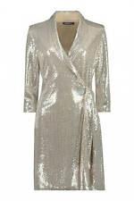 Roman Originals Women Sequin Party Metallic Blazer Dress