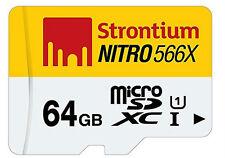 Strontium 64GB Nitro 566X UHS-1 Micro Sd Card (Class10)  64 GB 85MB/s
