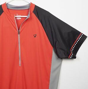 Bontrager Men's XL Solstice Jersey Red/Orange Black Half-Zip Cycling Jersey