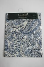 "RALPH LAUREN Laveen PAISLEY Indigo BLUE Cotton TABLE RUNNER 15x72"" New"