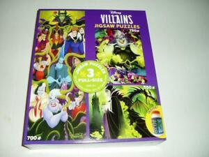 Disney Villains 3 in 1 Ceaco Jigsaw Puzzles 3573-2 NIB