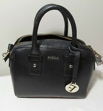 Authentic FURLA Black leather two small bag cleaned made in Italy