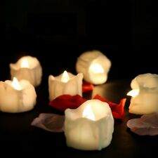 12Flameless Votive Decor Candles LED Tea Light Battery Operated Flickering Lamp~