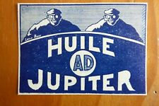 1924-1925 PUB HUILE AD JUPITER OIL AVIATION AVION LOUIS BRAU ORIGINAL FRENCH AD