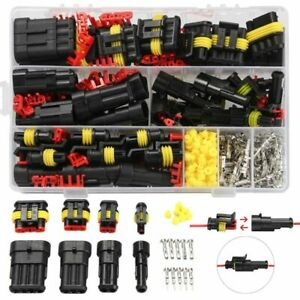 352pcs Connectors Car Electrical Wire Truck Harness HID Waterproof Accessories