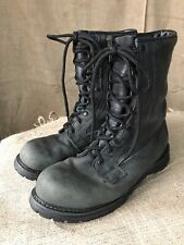 US Army Rocky Black Leather Combat Goretex Boots 11W Made In USA Soft Toe 2001