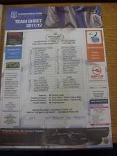 24/09/2011 Colour Teamsheet: Huddersfield Town v Leyton Orient  .  Thanks for ta