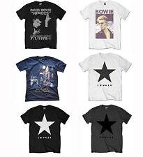 OFICIAL DAVID BOWIE Música Rock Camiseta Blackstar Ziggy Héroes fumar Diseños