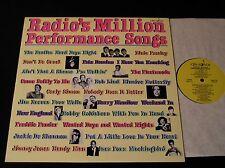 Radio's Million Performance Songs-RARE '84 PROMO LP-Beatles/Elvis/MORE-NEAR MINT