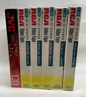 Lot of 5 RCA T-120H Standard Grade 6 Hour VHS Blank Video Tapes VCR New Sealed