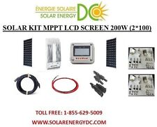 Solar Panel KIT Panneau Solaire 200W 200 W Watt (2 * 100 W) MPPT mono 12V bracke