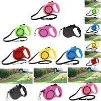 3/5m Pet Dog Automatic Retractable Traction Rope Puppy Walking Train Lead Leash