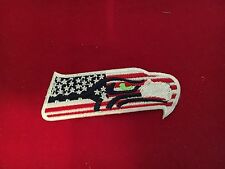 SEATTLE SEAHAWK PATRIOTIC PATCH IRON ON OR SEWING