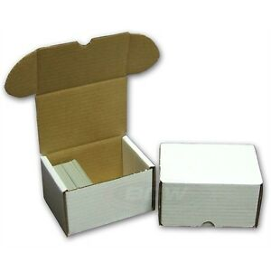 Bundle 50x BCW 330 COUNT Corrugated Cardboard Storage Box - Sports Cards Case