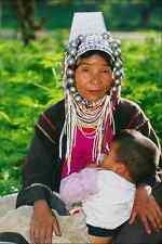 765007 Akha Woman Breast feeding Hilltribe Village Chiang Mai Thailand A4 Photo