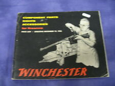 1956 Winchester Price List For Component Parts, Sights, Accesories For Firearms