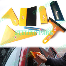 7 Car SUV Windshield Scraper Wrapping Film Tint Vinyl Application Squeegee Tools