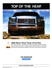 2006 Honda Ridgeline Truck of Year Award - Car Advertisement Print Ad J148
