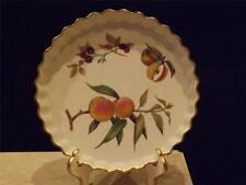"""Royal Worcester Evesham Gold 10"""" QUICHE, England Very Good Condition"""