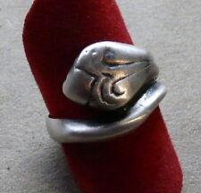 ANELLO TESTA di COBRA AG 925 Brunito RING Sterling Silver