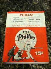 1958 PHILADELPHIA PHILLIES VS PITTSBURGH PIRATES ROBERTO CLEMENTE PROGRAM