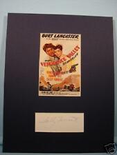 """Burt Lancaster """"Vengeance Valley"""" signed Sally Forrest"""
