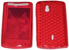 TPU anteriore e posteriore Gel Custodia Cover Rosso per Sony Ericsson Xperia Mini UK PRO sk17i